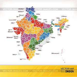 Landkarte von Indien - Vector-Clipart