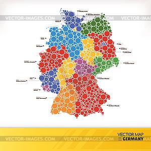 Landkarte Deutschlands - Vector Clip Art