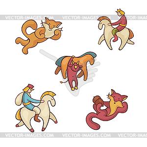 Set von Märchenfiguren - Vektor-Abbildung