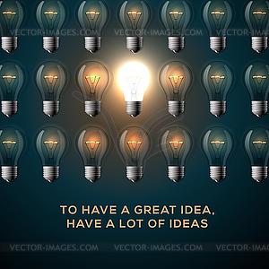 Kreativität Konzept. Text - Um große Idee haben, - Vector-Clipart EPS