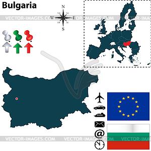 Karte von Bulgarien mit EU - Vector-Design