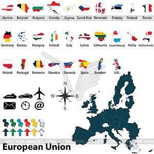 Karten der Europäischen Union - Vektor-Skizze