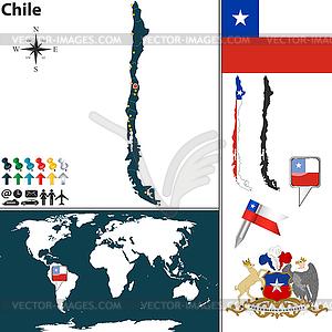 Karte von Chile - Vektorgrafik-Design