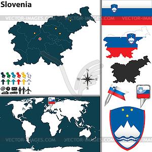 Karte von Slowenien - Vektorgrafik