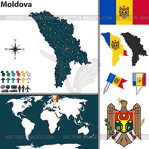 Karte von Moldawien - Vektorgrafik