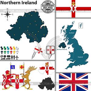 Karte von Nordirland - Stock Vektorgrafik