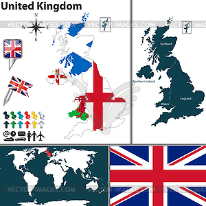 Karte von Großbritannien - Vektorgrafik