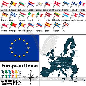 Karten der Europäischen Union - Vector-Clipart / Vektor-Bild