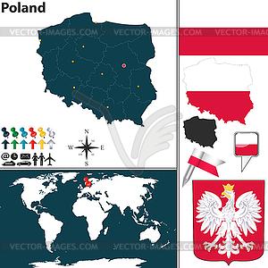 Karte von Polen - Vektor-Clipart EPS
