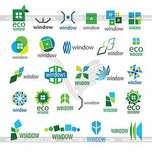 Große Sammlung von Logos Fenster - vektorisierte Grafik