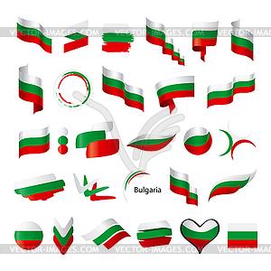 Größte Sammlung der Flagge von Bulgarien - Vektor-Clipart / Vektorgrafik