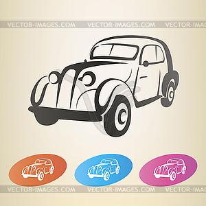 Alte Retro-Auto-Symbol - vektorisiertes Bild