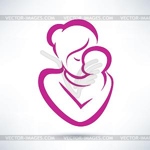 Mutter und Kind Symbol - Vector-Clipart / Vektor-Bild