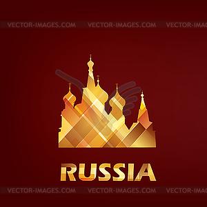 Basilius Kathedrale Symbol, Russland, Moskau - Clipart-Design