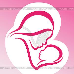 Mutter und Baby - Vector-Illustration