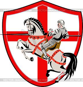 Englisch Knight Rider Reit England-Flaggen-Retro - Vektor-Design