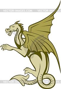 Green Dragon Ganzkörper-Cartoon - Vektorgrafik-Design