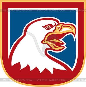 American Bald Eagle Kopf Schild Retro - vektorisierte Grafik