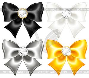Silk Bogen Schwarz und Gold mit Diamanten - Vektorgrafik-Design