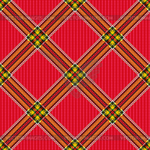 Karierte Diagonale Tartan Stoff nahtlose Muster - Clipart