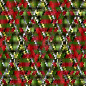 Rhombic Tartan rot und grün nahtlose Textur - Vektor Clip Art