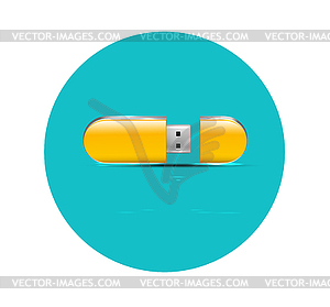 Wohnung Flash-USB-Symbol - Stock-Clipart