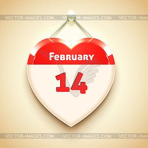 Valentine App-Symbol Herz - vektorisiertes Design