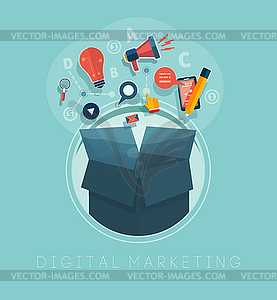 Digital-Marketing-Konzept - Vector-Clipart EPS