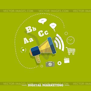Digital-Marketing-Konzept - Vector-Clipart / Vektor-Bild