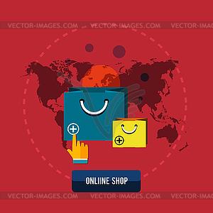 Einzelhandel Handel und Marketing-Elemente - Vector-Bild