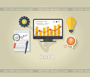 Start up-Konzept - Vektorgrafik
