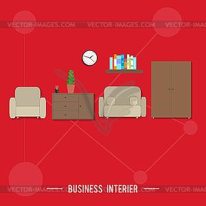 Business-Innenraumkonzept - Vector-Abbildung