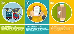 Internet-Shopping-Prozess des Einkaufs - Vector-Clipart / Vektor-Bild