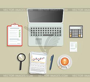 Set von verschiedenen Finanzdienstleistungspositionen - Vector-Clipart / Vektor-Bild