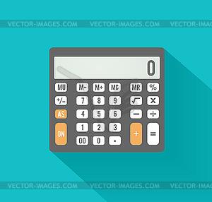 Taschenrechner-Symbol. Business-Konzept mit Mathematik - farbige Vektorgrafik