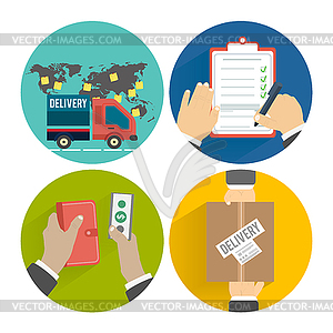 Internet-Shopping-Prozess des Einkaufs - Stock Vektorgrafik