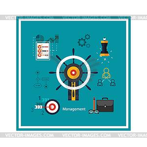 Icons für Management-Konzept - Vektorgrafik
