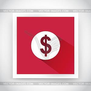 Icon von Dollar für Web-und mobile Anwendungen - Vector-Clipart EPS