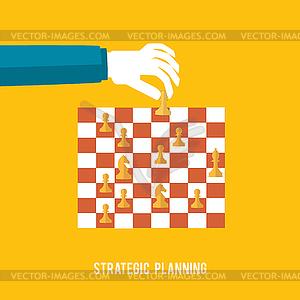 Strategieplanungskonzept - Vector Clip Art