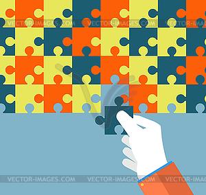 Geschäftsmann Montage Puzzle - Stock-Clipart