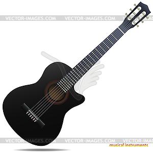 Akustische Gitarre - vektorisiertes Clipart