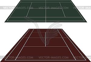 Stellen Tennisplätze in der Perspektive - Klipart