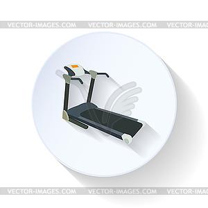 Laufband flach Symbol - Vektor-Clipart / Vektor-Bild