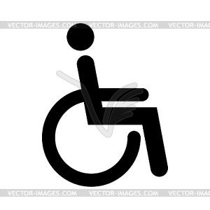 Behinderte Zeichen - Vector-Illustration