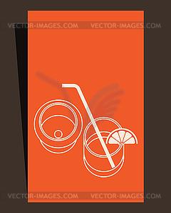 Trinken Menü. Kartendesign - Vector-Bild