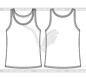 Blank Singulett-Vorlage - Vorder-und Rückseite - Vector-Bild