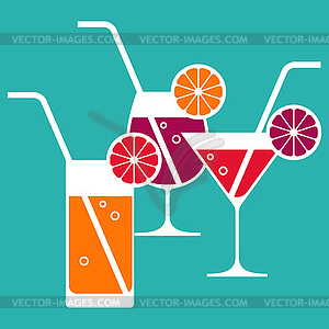 Cocktails - Stock Vektor-Clipart