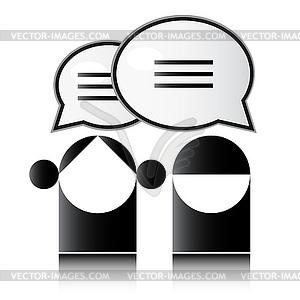 Die Menschen teilen Kommunikation Sprechblasen - Royalty-Free Vektor-Clipart