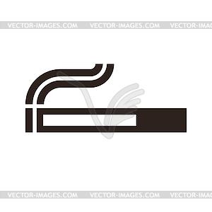 Zigaretten-Zeichen - Vektorgrafik-Design