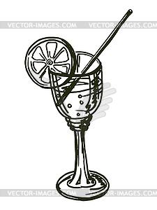 Trinken mit Zitrone - Vector-Clipart EPS